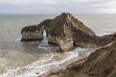Dramatic outcrop at Flamborough Head in Yorkshire, England Royalty Free Stock Photo
