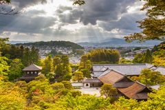 Dramatic panorama of Kyoto royalty free stock photography