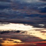 Dramatic Morning sky at Sunrise. Dramatic panorama morning sky atnsunrise.The clouds are burning by the sun. Sunset. Fire Stock Photography