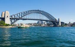 Dramatic panoramic photo Sydney harbor Royalty Free Stock Image