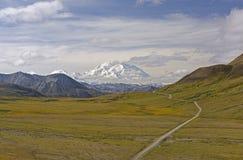 Dramatic Peak Viewed Across the Tundra Stock Photo