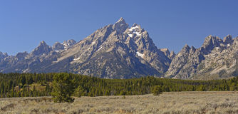 Dramatic Peaks on a Clear Fall Day Royalty Free Stock Photo
