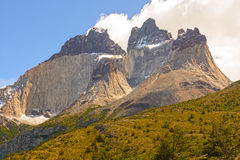 Dramatic Peaks in The Patagonian Andes Royalty Free Stock Image