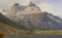 Dramatic Peaks in the Patagonian Andes Stock Image