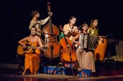 The dramatic performance of Antigone Stock Image
