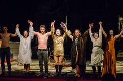The dramatic performance of Antigone Stock Photos