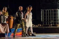The dramatic performance of Antigone Royalty Free Stock Image