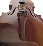 Dramatic perspective of antique violin stock image