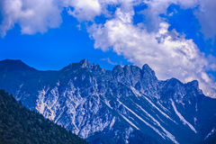 Dramatic picture with mountain peak Stock Image