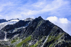 Dramatic picture with mountain peak Stock Images