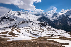 Dramatic and picturesque morning scene. Location famous resort Grossglockner High Alpine Road, Austria. Europe. Stock Image