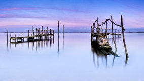 Dramatic pier royalty free stock images