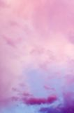 Dramatic pink clouds Royalty Free Stock Image
