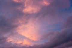 Dramatic pink clouds Stock Photos
