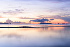 Dramatic ponoramic tropical beach sky sunset background Royalty Free Stock Photography
