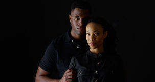 Dramatic portrait of strong young black couple Stock Photo