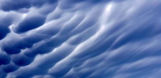 Dramatic pre-storm clouds. Dramatic storm cloud textured background Mammus cloud stock illustration