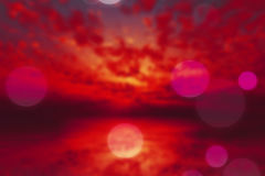 Dramatic purple sunset blur. Dramatic purple sunset over calm sea blurred background stock illustration