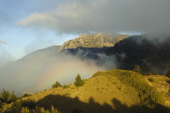 Dramatic rainbow cloud in yushan national park Stock Photo