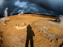 Dramatic rainbow Stock Photography