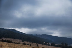Dramatic rainy weather in the mountains Royalty Free Stock Photos