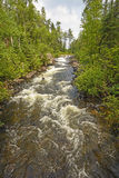 Dramatic Rapids in a Wilderness River Royalty Free Stock Image