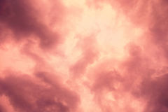 Dramatic red cloud background Royalty Free Stock Photos