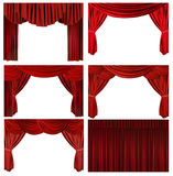 Dramatic red old fashioned elegant theater stage e