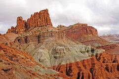 Dramatic Red Rock Spires in the Desert Stock Photography