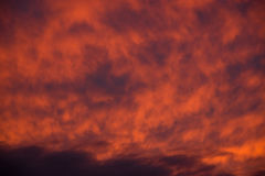 Dramatic red sky Royalty Free Stock Photography
