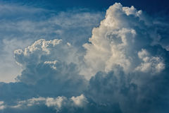 Dramatic relief cloudscape Stock Photos