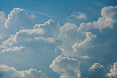 Dramatic relief cloudscape Royalty Free Stock Photography