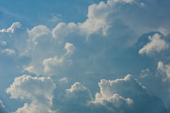 Dramatic relief cloudscape Stock Photography