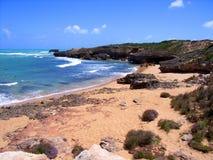 Dramatic Robe Coastline. Photograph taken featuring dramatic coastline at Robe, South Australia stock photos