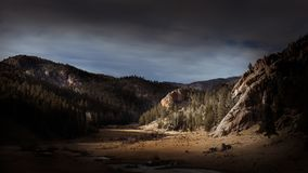 Dramatic Rocky Mountain Landscape at Sunset Royalty Free Stock Images
