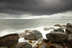 Dramatic Rough Coastline Stock Photography