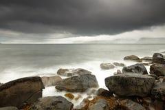 Dramatic Rough Coastline Stock Photography