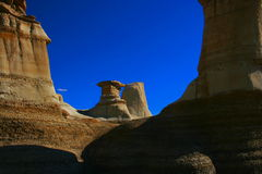 Dramatic sandstone formations, Drumheller, AB, Can Stock Image