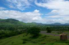 Dramatic Satara village landscape Royalty Free Stock Photo