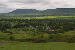 Dramatic Satara village landscape-IV Royalty Free Stock Images