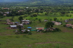 Dramatic Satara village landscape-VII Stock Photos