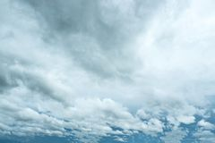 Dramatic scene of cloudy landscape before the rain. Over the sea stock photos