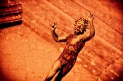 Dramatic scene of the faun, Satyr in Pompeii Stock Photos