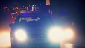 Dramatic Scene Of Traffic In Heavy Rain stock video