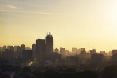 Dramatic scenery of the Kuala Lumpur city Royalty Free Stock Photos
