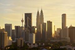 Dramatic scenery of the Kuala Lumpur city Stock Images