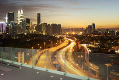 Dramatic scenery of the Kuala Lumpur city Royalty Free Stock Photos
