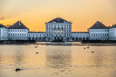 Free Dramatic Scenery Of Nymphenburg Palace In Munich Germany Stock Images - 111319784