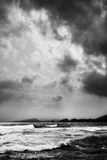 Dramatic sea, clouds, south end Royalty Free Stock Image