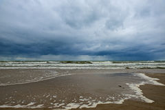 Dramatic sea. Dramatic and stormy Baltic sea at spring Royalty Free Stock Photography